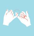 promise hands gesturing orange lines vector image vector image