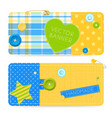 realistic sewing banners vector image vector image