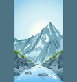 river in the mountains vector image vector image