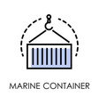 sea transportation industrial marine container vector image