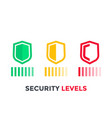 security levels icons on white vector image