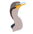 simple florida everglades cormorant design vector image vector image