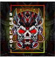 skull robot head esport mascot logo vector image vector image