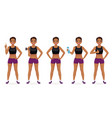 sport woman set vector image vector image