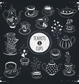 teapots and cups vector image vector image