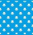 top hat with buckle pattern seamless blue vector image