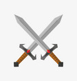 two swords on white vector image vector image
