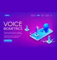 voice biometrics technology vector image