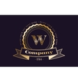 W letter icon logo vintage vector image
