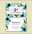 watercolor floral wedding anniversary invitation vector image vector image