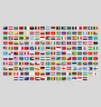 world national flags official country signs vector image vector image