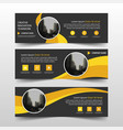 yellow circle corporate business banner template vector image vector image