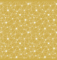 yellow stars network seamless pattern vector image vector image