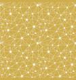 yellow stars network seamless pattern vector image