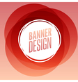 Creative circle round banner with place for text vector image