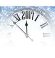 2017 winter background with clock vector image vector image