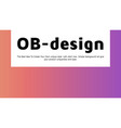 abstract colorful gradient landing page template vector image