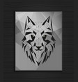 abstract polygonal wolf head design vector image vector image