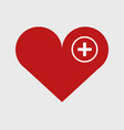 add heart icon on white background vector image vector image