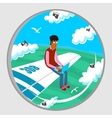 Airplane window vector image vector image