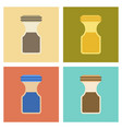 assembly flat icons coffee jar vector image vector image