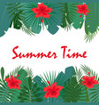 card for summer time vector image