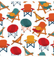 chairs seamless pattern repeating vector image vector image