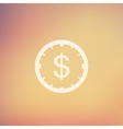 Clock and dollar sign in flat style icon vector image vector image