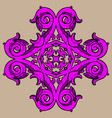 colorized hand drawn ornament vector image