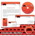 Corporate identity sample for transportation vector image vector image