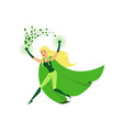 cute eco superhero girl with super strength vector image vector image