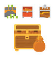 cute set of diferent chests cartoon vector image vector image