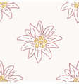 edelweiss flower seamless pattern tile symbol vector image vector image