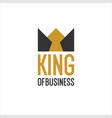 emblem with image crown king of vector image vector image