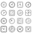 face clock icon flat set vector image vector image