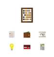 flat icon finance set of counter payment vector image vector image