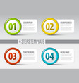 four steps circle template vector image vector image