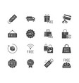 free label black silhouette icons vector image