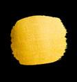 golden brush stroke for you amazing design vector image vector image