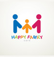 happy family simple logo or icon created with vector image