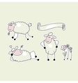 Happy Sheep vector image