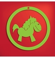 horse for your design vector image