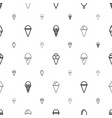 icecream icons pattern seamless white background vector image vector image