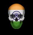 indian flag skull vector image vector image