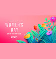 international womens day sale background with vector image
