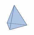 isolated triangular pyramid vector image vector image