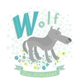 Letter W - Wolf vector image vector image