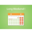 long weekend concept with flat style vector image