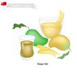 Mango Otai or Tongan Coconut and Ripe Mango vector image vector image