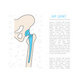 medical hip joint vector image vector image